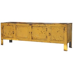 Vintage French Steel Work Bench or Cabinet
