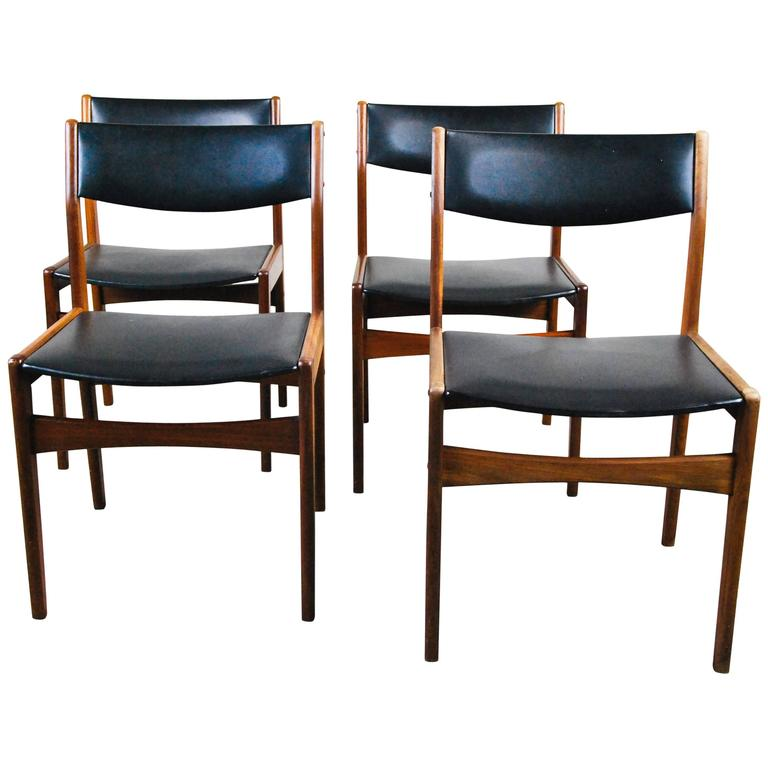 1960 Danish Teak Dining Chairs by Poul Volther for Frem Rojle
