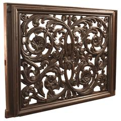 19th Century Antique Carved Wall Panel, Victorian, Oak
