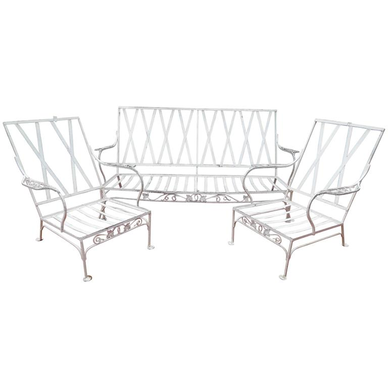 Vintage Salterini Patio Set, Mt Vernon Pattern Three Pieces 1