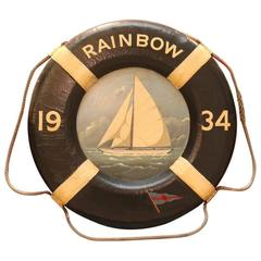 Authentic Nautical Life Ring with Painted Decoration
