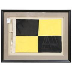 Yacht Signal Flag in Shadowbox Frame