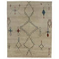 Contemporary Moroccan Style Area Rug with Modern Tribal Design