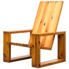 Ate Van Apeldoorn Pine Lounge Chair