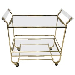 Treitel Gratz Art Deco Brass Bar Cart