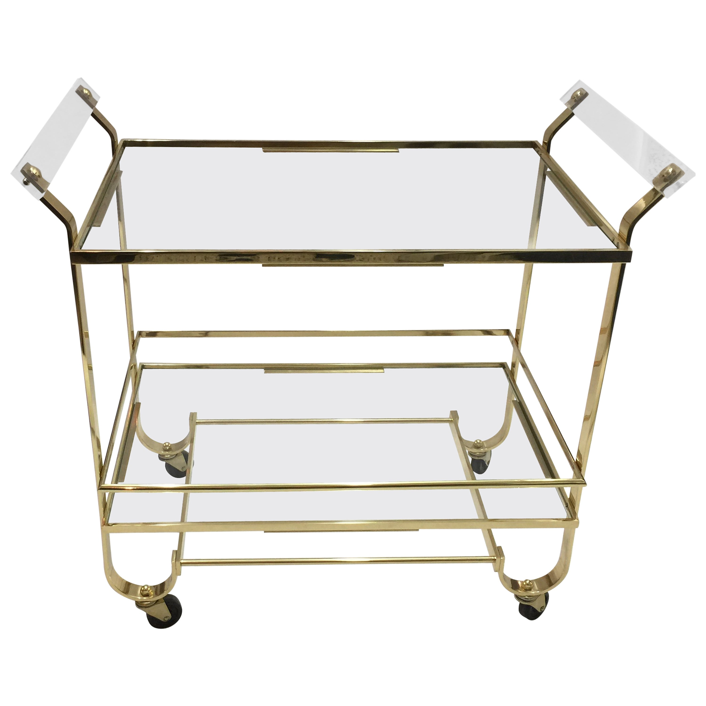 Treitel Gratz Art Deco Brass Bar Cart