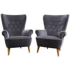 Pair of Theo Ruth Lounge Chairs by Artifort