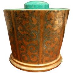 Elegant Gold Metal Finish Ice Bucket