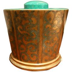Elegant Gold Metal Finish Ice Bucket