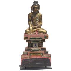 Seated Wooden Buddha TD 1031