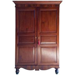 Antique Double Wardrobe Armoire Mahogany Victorian, 19th Century Tall