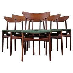 Set of Six Dining Chairs in Teak by Schøning and Elgaard
