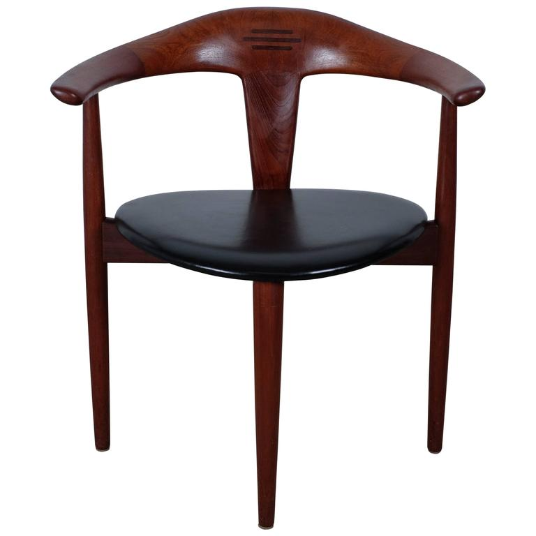 Very Rare and Stunning Chair in Teak by Erik Andersen and Palle Pedersen