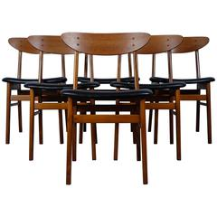 Set of Six Chairs by Danish Manufacturer Farstrup 'The Smile'