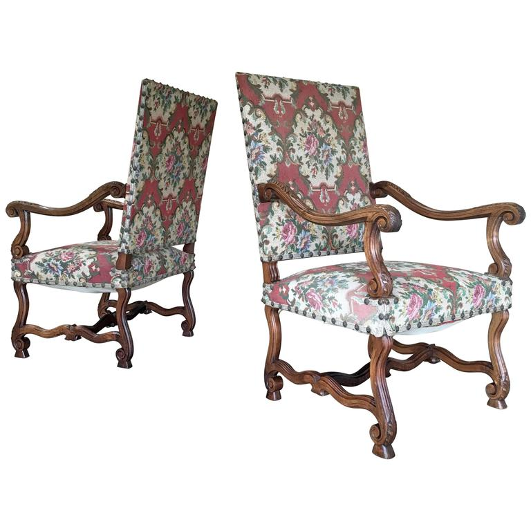 19th Century Pair of Louis XIV Style Armchairs