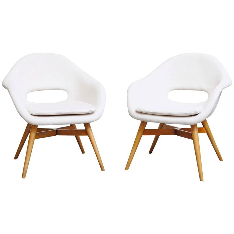 Pair of Miroslav Navrátil Bucket Lounge Chair for Vertex For Sale at ...