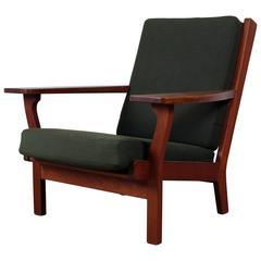 Rare Armchair in Teak by Hans J. Wegner, Model Ge-320