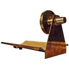 Norwegian Modernist Patinated Brass Sconce by John Gulbrandsrød for Drangsgaard