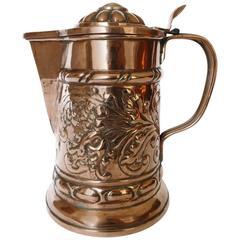 Great German Copper Wine Flagon, circa 1700s