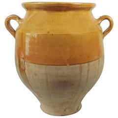 19th Century French Yellow Confit Jar Pot