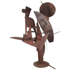 Paul Kasper - Large Modernist Welded Steel Sculpture, 1960