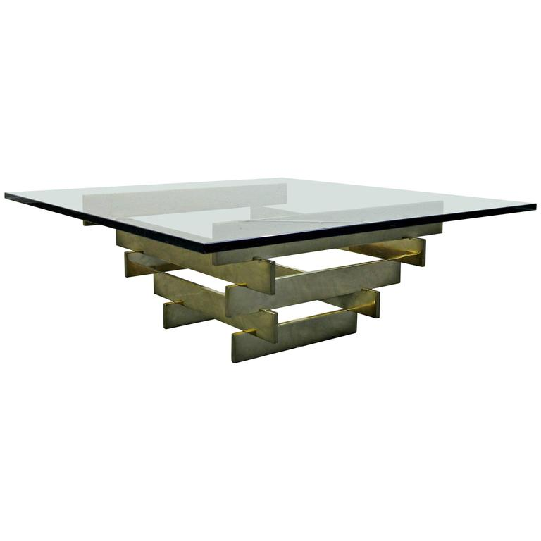 Paul mayen for habitat rare stacked brass coffee table for for Coffee tables habitat