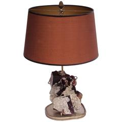 1950s Mineral Stone Table Lamp