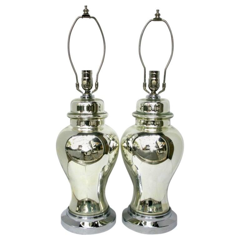 Mercury Glass Table Lamps.
