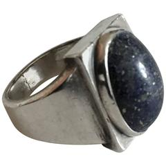 Georg Jensen Sterling Silver Ring #84A with Lapis Lazuli