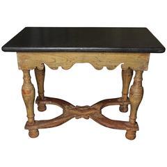 18th Century Swedish Baroque Table, Original Painting