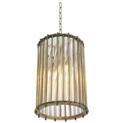 Mezzo Chandelier in Vintage Brass or Antique Silver Plated Finish