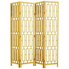 Golded Folding Screen in Gold Finish