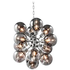 Low Bubbles Suspension with Smoked Glass and Nickel Finish