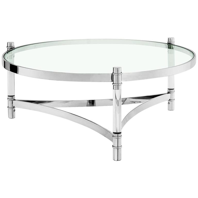 Tertio Coffee Table Clear Glass And Clear Acrylic For Sale At 1stdibs