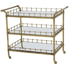 Queen Trolley in Vintage Brass or Polished Stainless Steel