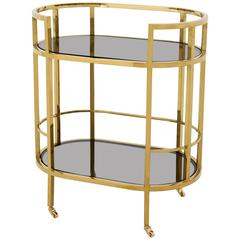 Secretaries Trolley in Gold Finish or in Polished Stainless Steel