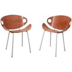 Pair of Olof Kettunen Chairs for Merivaara, Finland, 1950s