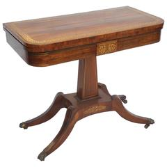 19th Century Antique Card Table Victorian Rosewood Table at 1stdibs