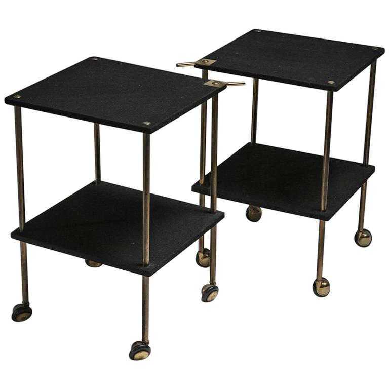 Pair of Side Tables Model T9 by Luigi Caccia Dominioni for Azucena