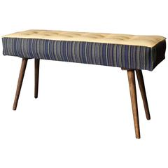 Studio Series Mini-Bench Navy Pinstripe with Beeswax Seat (in stock)