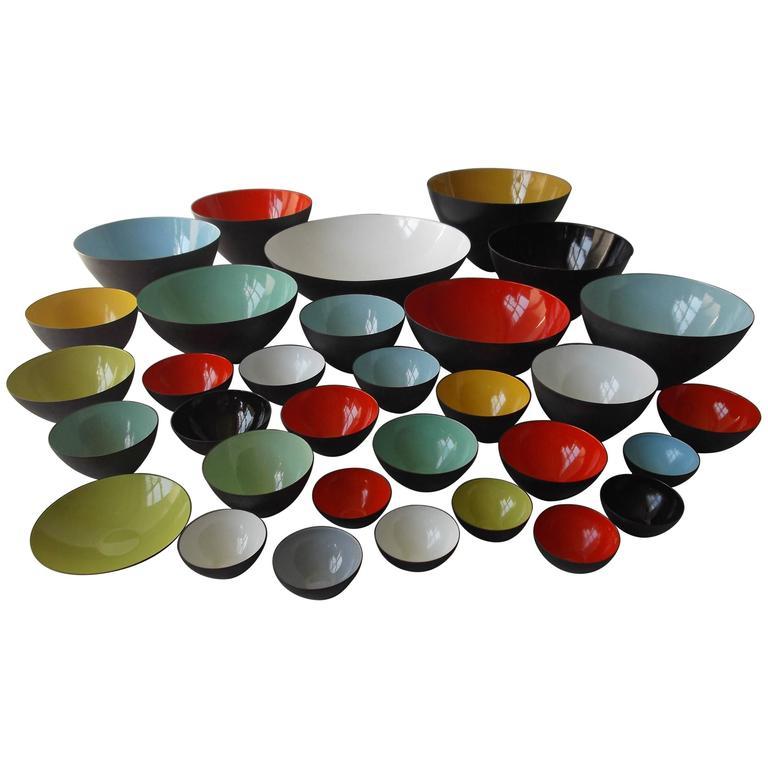 Amazing Herbert Krenchel Krenit Denmark Enamel Steel Bowl Collection