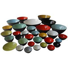 Amazing Herbert Krenchel Krenit Denmark Enamel Steel Bowl Collection
