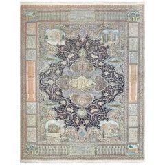 Fine Kork Wool Vintage Tabriz Persian Rug
