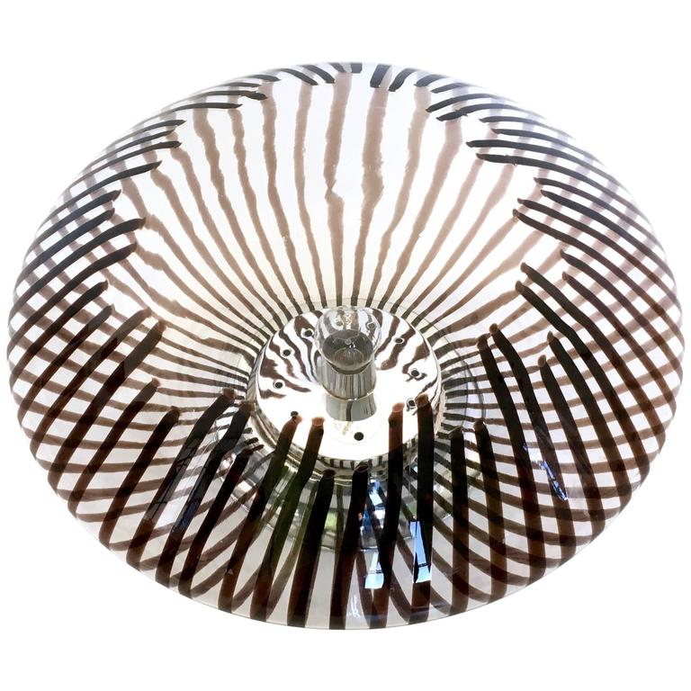 Blown Glass Table Lamp in the Style of Venini, Italy, 1970s