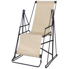 Modernist Art Deco Swinging Chaise Longue