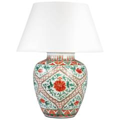 Fine Late 19th Century Famille Verte Vase
