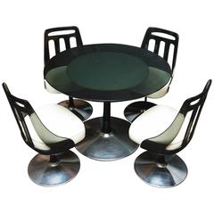 Vintage Lucite and Chrome Dinette Set by Soveriegn