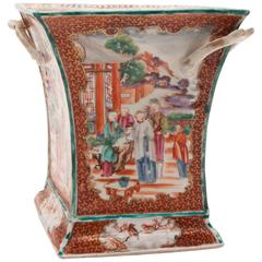 18th Century Chinese Export Mandarin Porcelain Vase