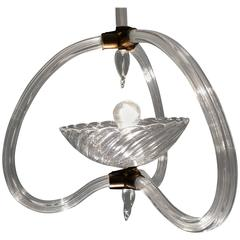 Lovely Murano Chandelier Art Deco by Ercole Barovier, 1940s