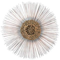 Jere Manner Starburst Spoke Wall Sculpture with Molten Brass Interior